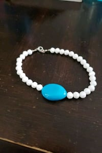 Blue and white bracelet/anklet