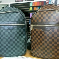 Damier Ebene Louis Vuitton leather backpack Sacramento, 95842
