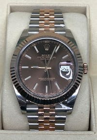 ROLEX Datejust 2 Everose Gold Two-Tone Jubilee Band w/ Chocolate Dial LIKE NEW!  Costa Mesa, 92627