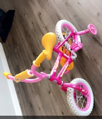 toddler's pink and white bicycle Hamilton, L8P 0B8