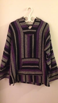 Purple and black striped sweater New Westminster, V3L 5L7