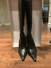 Black Michael Kors Leather Boots with Heal - Size 9.5 Toronto, M3H 2R7