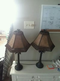 two brown wooden table lamps Des Moines, 50312