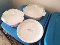 Corning ware casserole and pie plates. Midwest City, 73110