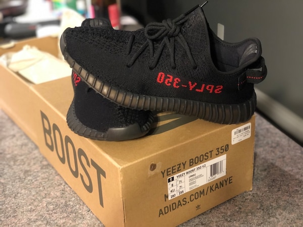e1b1b8dfea48a6 Used Yeezy 350 V2 Bred Aka Black   Red ... Size 8 Men. for sale in ...