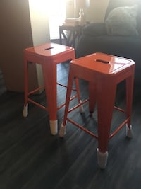 """Brand new out of box.. two 24"""" orange barstools Ashburn, 20147"""
