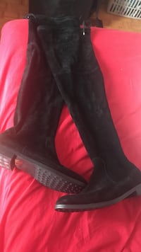 ALDO Pair of black suede knee-high boots Montréal, H1M 2T6