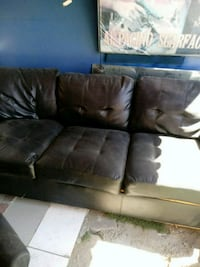 brown leather 3-seat sofa Los Angeles, 91605