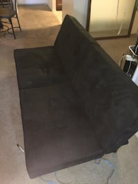 Black suede 2-seat sofa