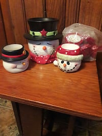 Yankee Candle snowmen candle holders plus South Amboy, 08879