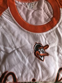 Brand New: Men's XL Baltimore Orioles White/Orange Baseball 3/4-Sleeve T-Shirt WESTCHESTER
