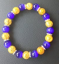 pink and purple beaded bracelet Riverview