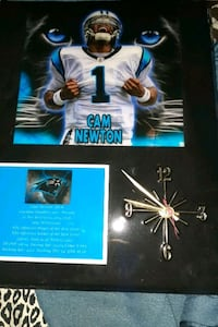 A Cam Newton clock great condition