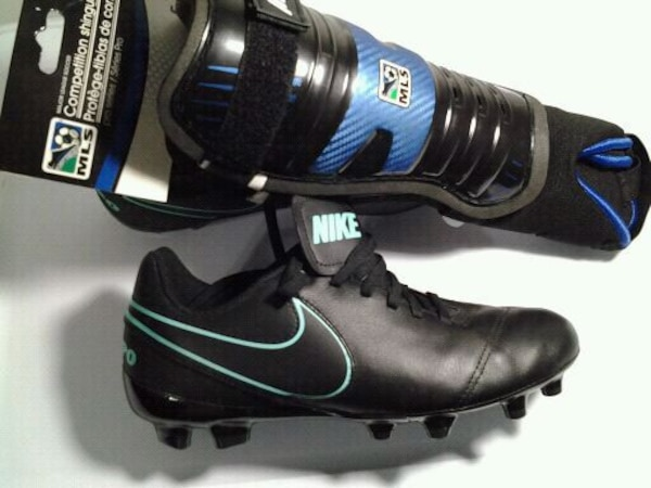 Used New NIKE soccer cleats and new shin guards. for sale in Philadelphia -  letgo 8424464c1ace