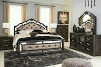 Quinshire Dark Brown Panel Bedroom Set   Houston