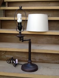 "Swing Arm Table Lamp With Tapered Drum Shade - 24"" Tall Chicago, 60622"