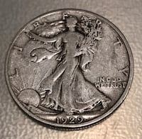 1929-S Silver Walking Liberty Half Dollar Cottonwood, 96022