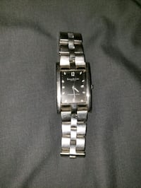 square silver analog watch with silver link bracelet Moreno Valley, 92553