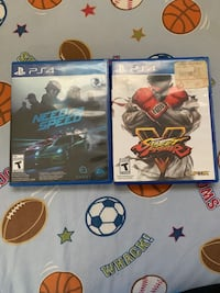 Need For Speed And Street Fighter 5 For PS4