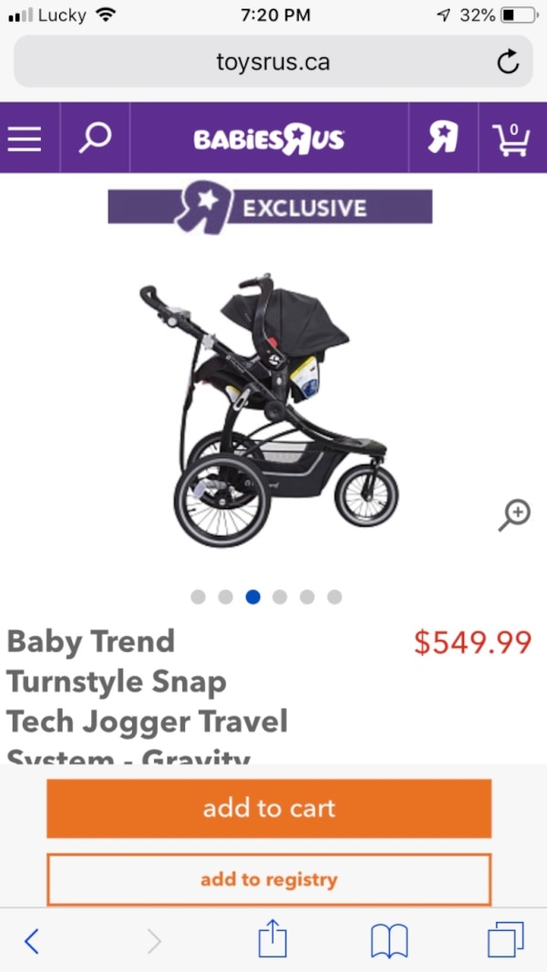 Black And White And Grey Travel System