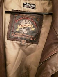 Brown leather jacket made by Adventure bound Clearwater, 33764