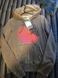 gray and pink zip-up hoodie Victoria, V8V
