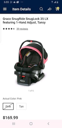 Graco snugride  25 lx car seat with the base Alexandria, 22311
