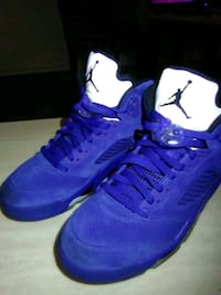 pair of blue Air Jordan basketball shoes Oklahoma City, 73106