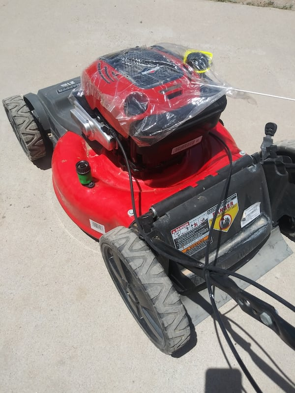 Lawn mower snapper with new engine 3