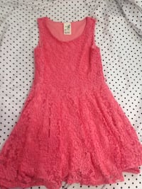 Coral Pink Flower Kids Dress London, N6H 5G2