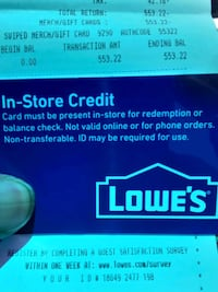 Lowes store credit card Las Vegas, 89121