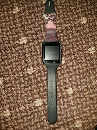 space gray aluminum case Apple Watch with black sport band Macon