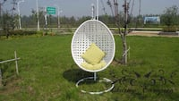 white swing chair