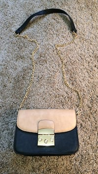 Black & Tan crossbody bag