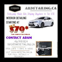 Mobile car detailing
