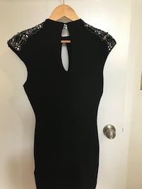 Bebe dress, black with sequence, XS Markham