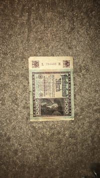 5000 Reich's Bank Note 1922 Wilkes-Barre, 18702