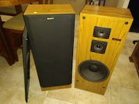 pair of brown-and-black Sony stereo speakers Olathe, 66061