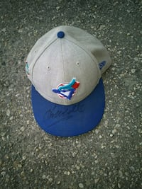 Blue jay hat.  Signed  Winnipeg, R3A 0X1