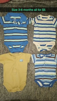 four assorted-color onesies Newman, 95360