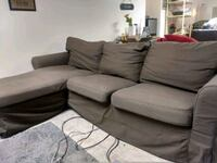Grey Brown L shape Ikea Ektorp couch Algonquin