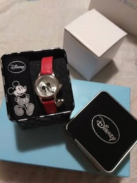 Red Disney Mickey Mouse Charm Watch
