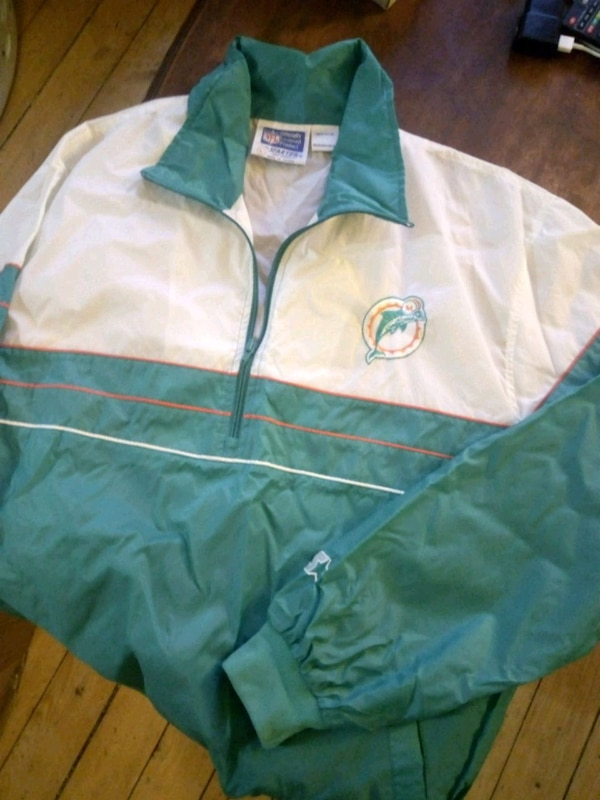 Miami dolphins starter pullover size large