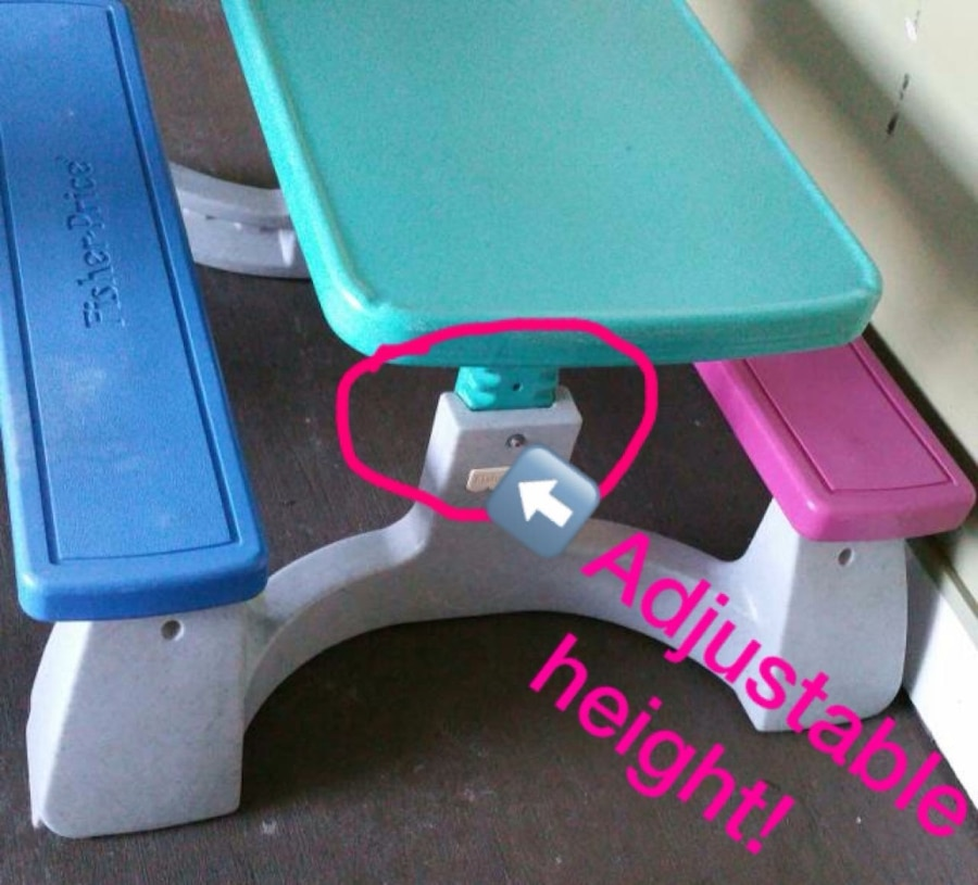 Used fisher price adjustable height child picnic table in oyster bay used fisher price adjustable height child picnic table in oyster bay watchthetrailerfo