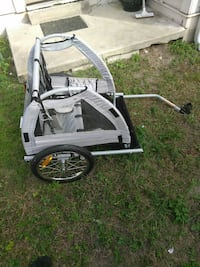 Kid two seat trailer for bikes