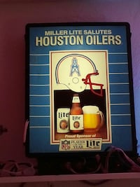 Miller Lite Salutes Houston Oilers poster
