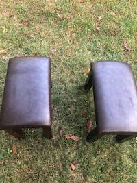 Just like new brown leather short bar stools  Rockville, 20851