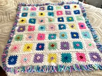 Hand Crocheted Granny Square Crib Blanket - REDUCED Baltimore, 21205
