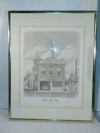 Towson Fire House signed print by Wm. Gardner  Wheaton-Glenmont, 20902