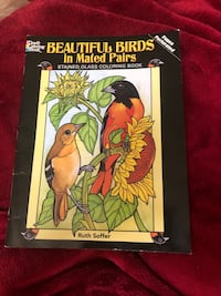 Birds stained colouring book